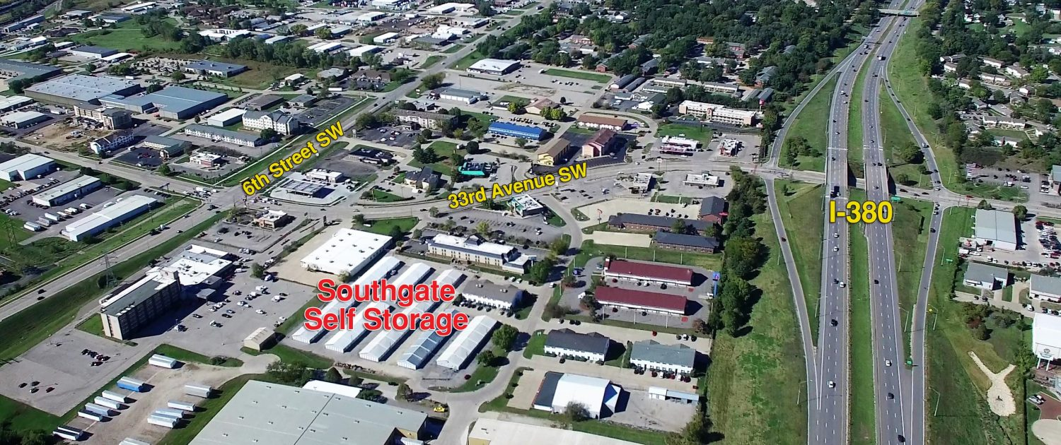 labeled map of the facility and nearby cedar rapids