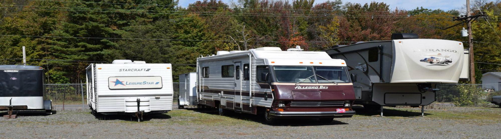 RV and trailer parking in Wymart, PA