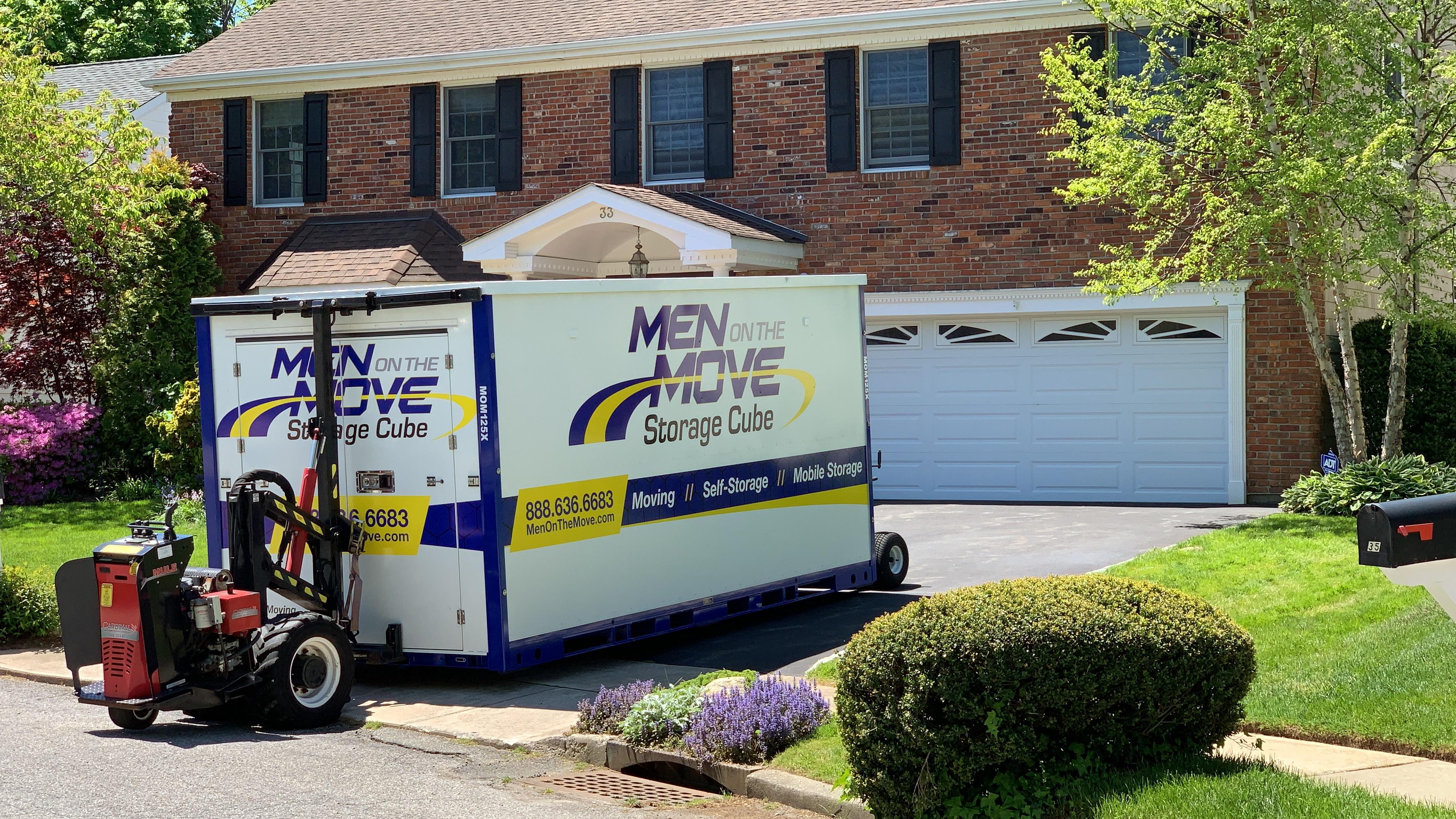 Men On The Move Storage Cube Image