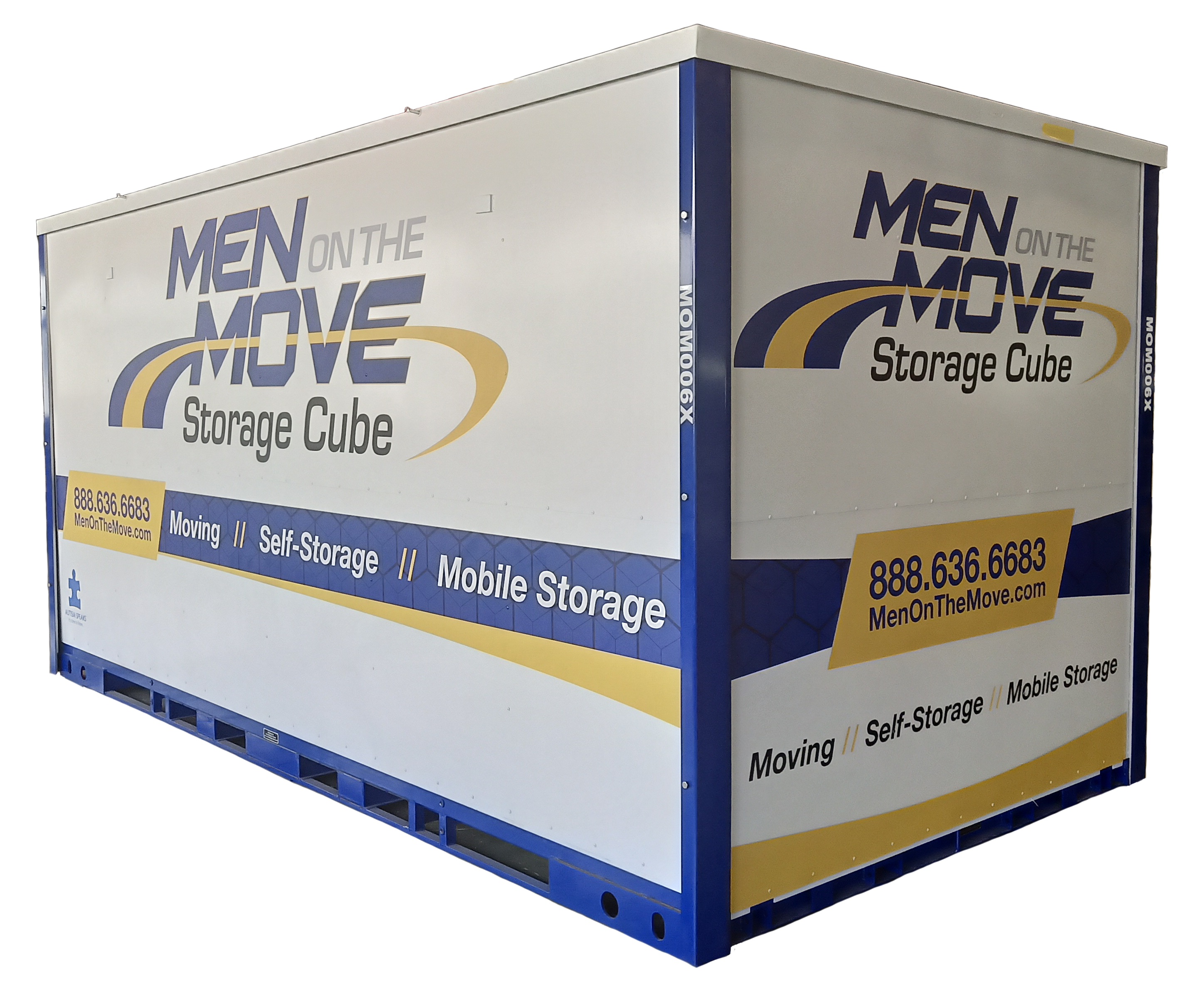 Men On The Move Storage Cube Image