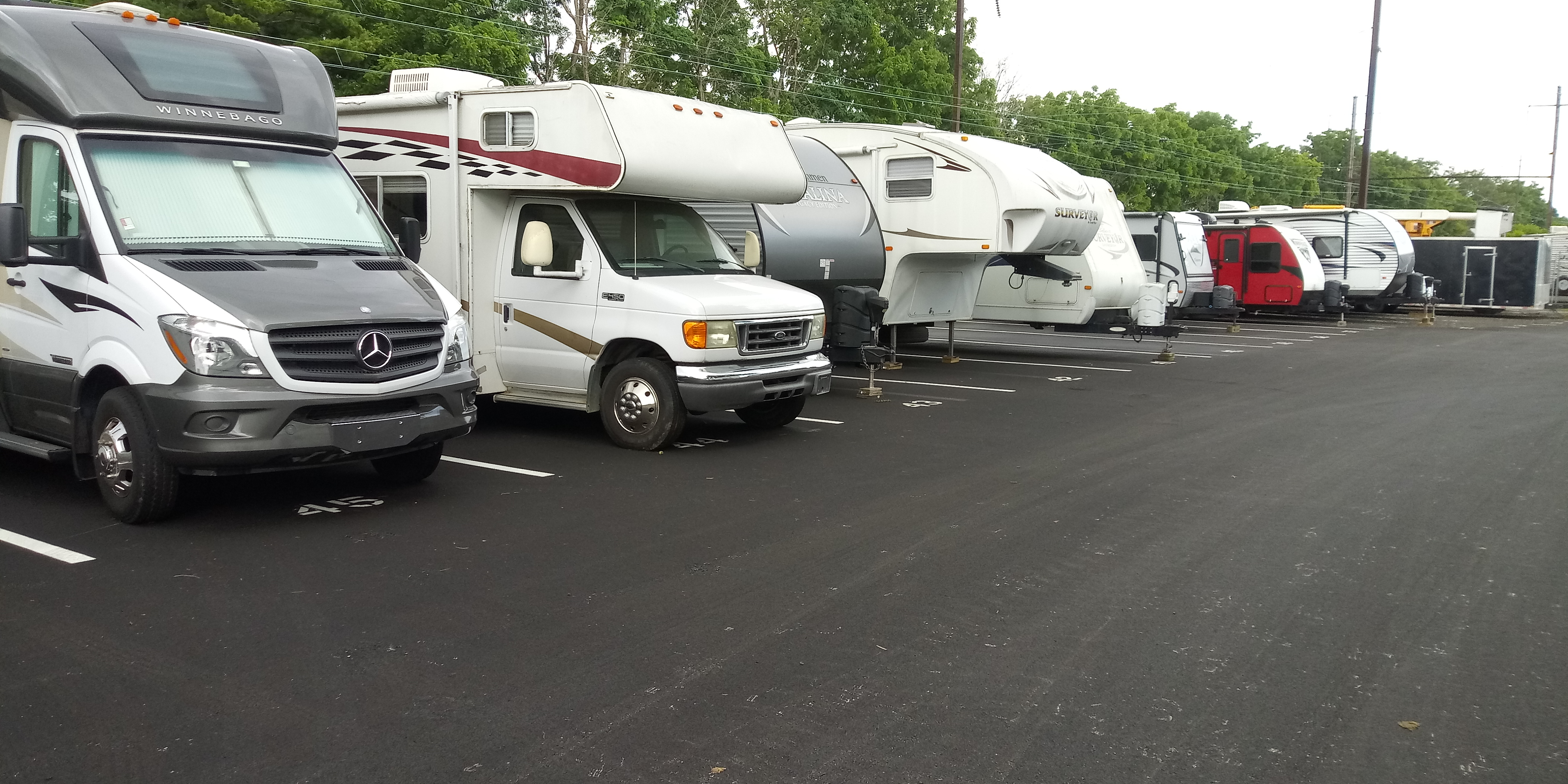RV and parking space rentals