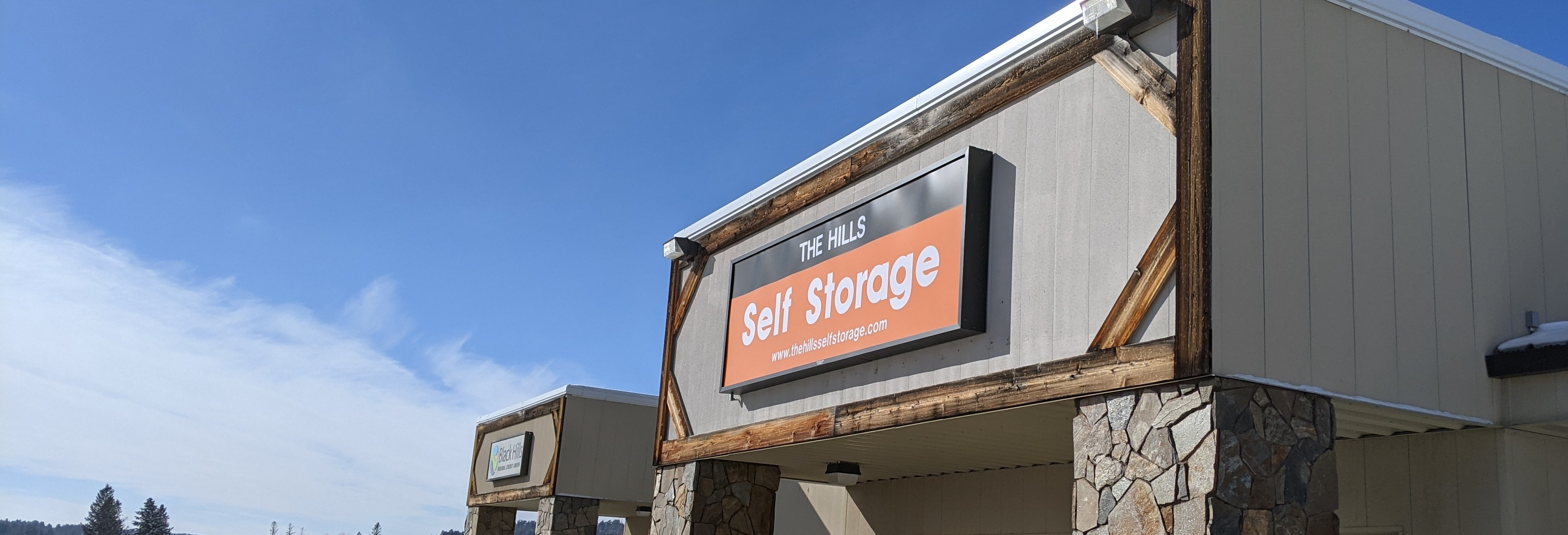the hills self storage front sign