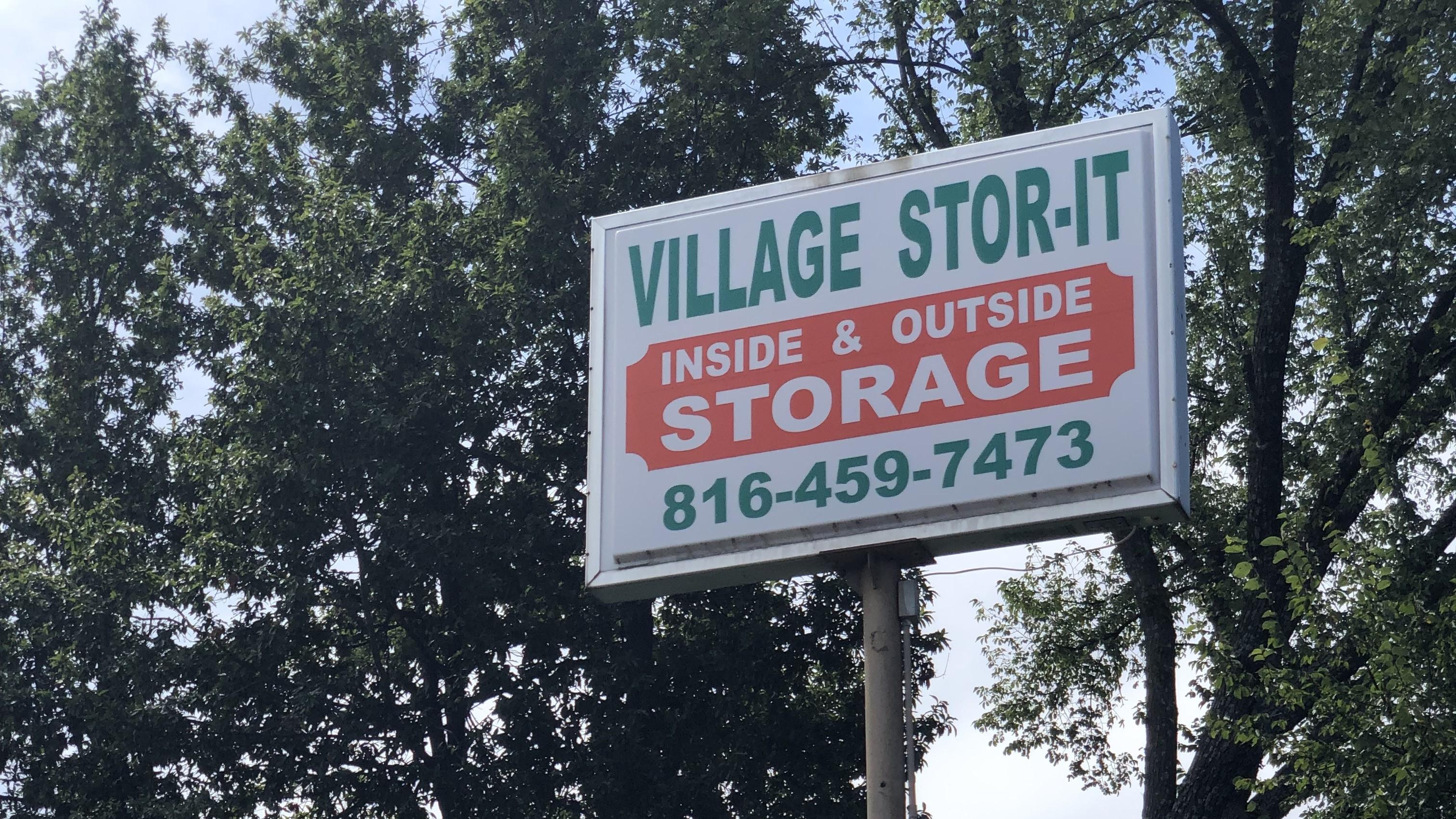 Claycomo Village Stor-It Sign