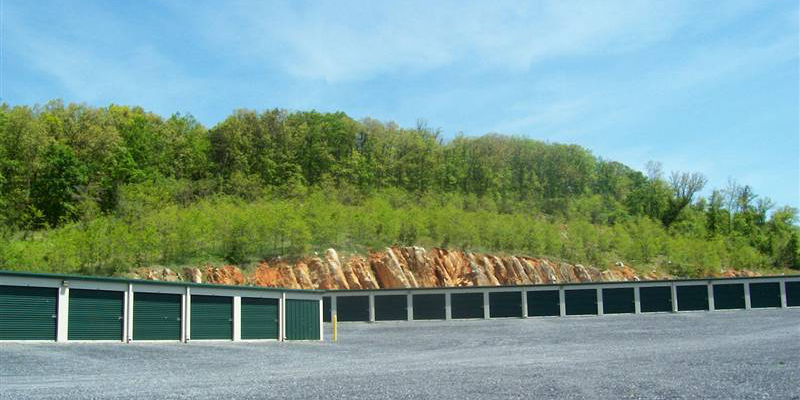 Rows of self storage units in Staunton, VA