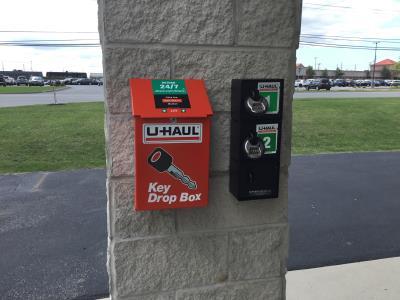 U-Haul Key Drop Box at Advantage Self Storage
