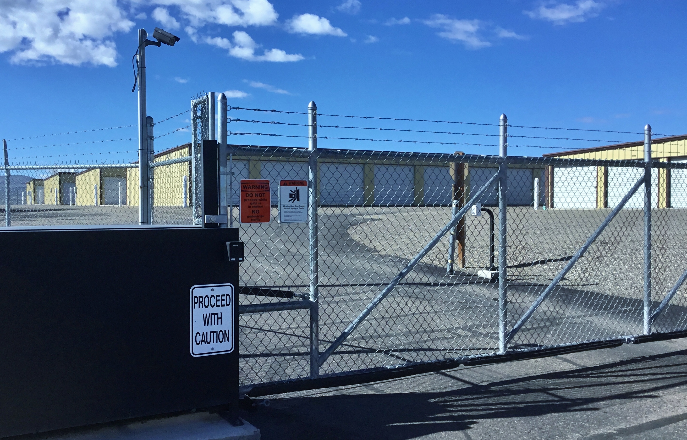 Fenced and Gated Secured Self Storage