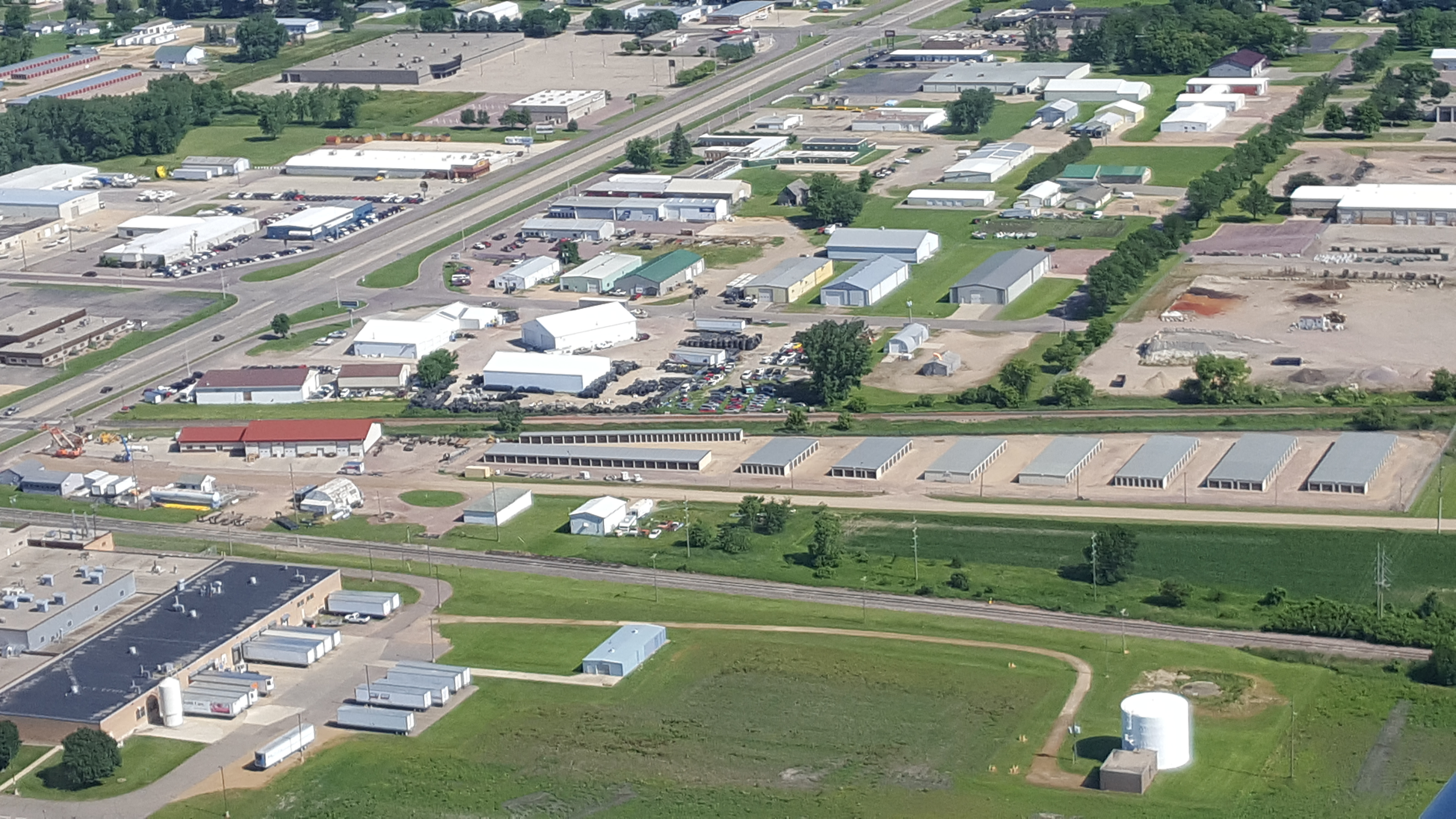 Arial of the Storage Facility