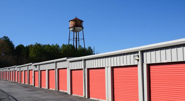 Row of self storage units at Gap Self Storage