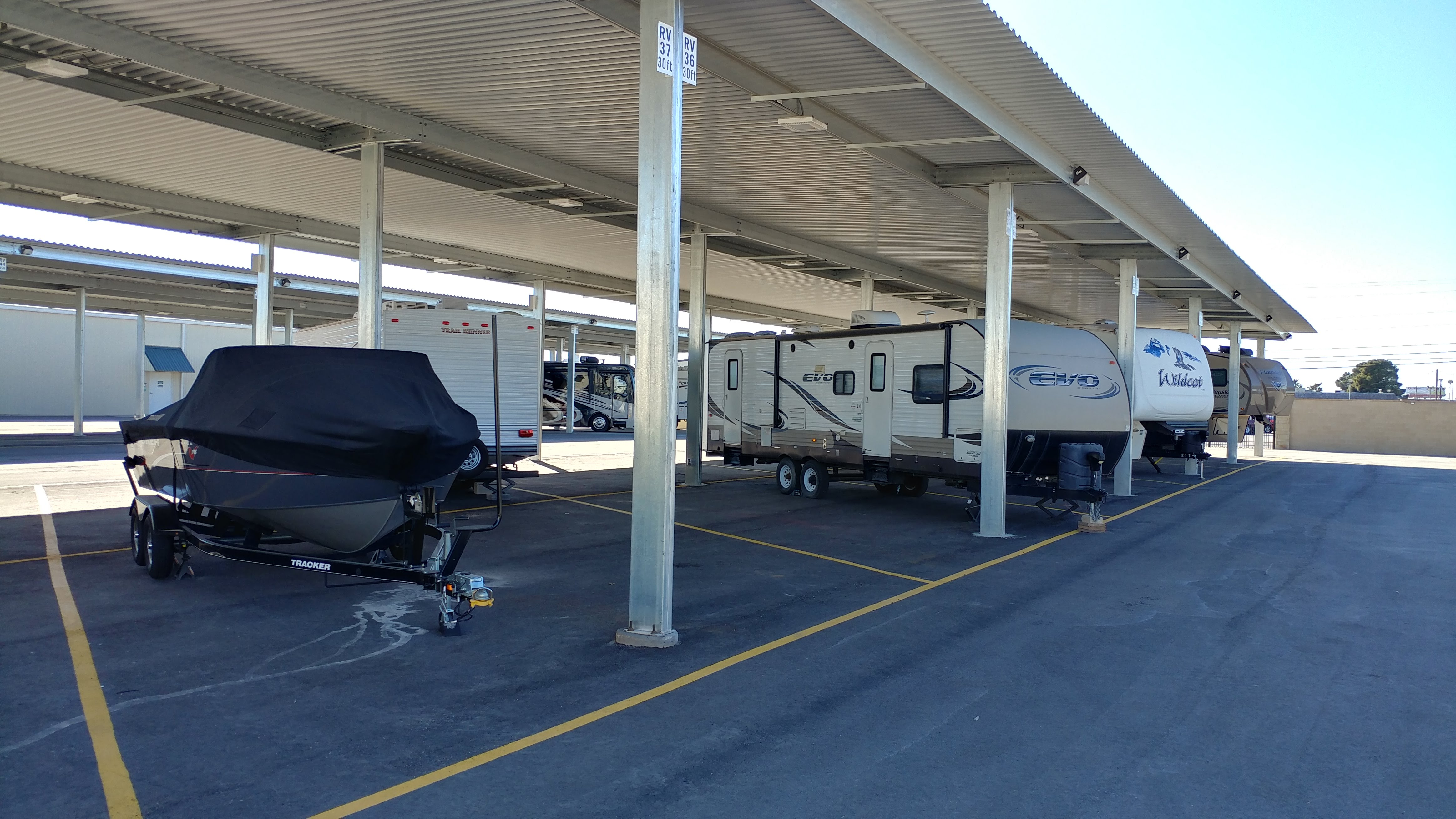 Covered RV Parking Keeps Your RV Out of the Weather and Elements