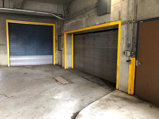 access door to parking storage lot