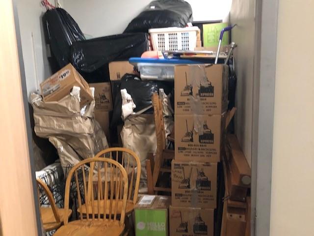 self storage unit with belongings