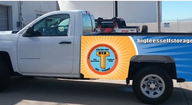Big Tee's Self Storage truck