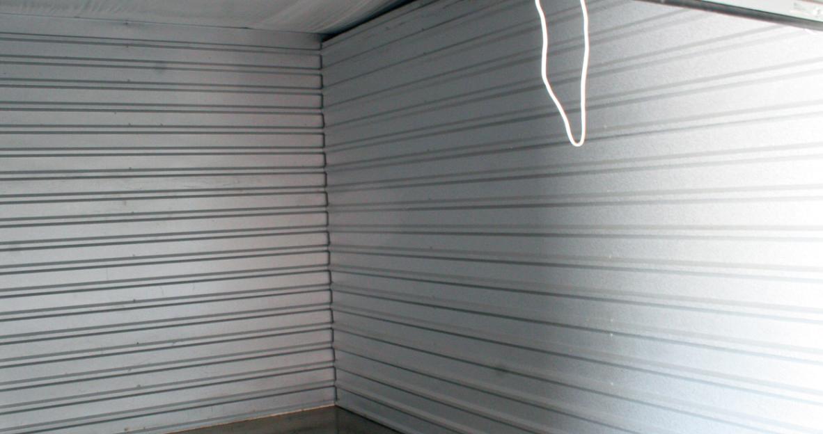 Inside a storage unit
