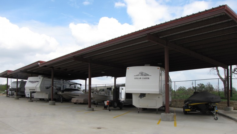 Recreational vehicles in covered parking