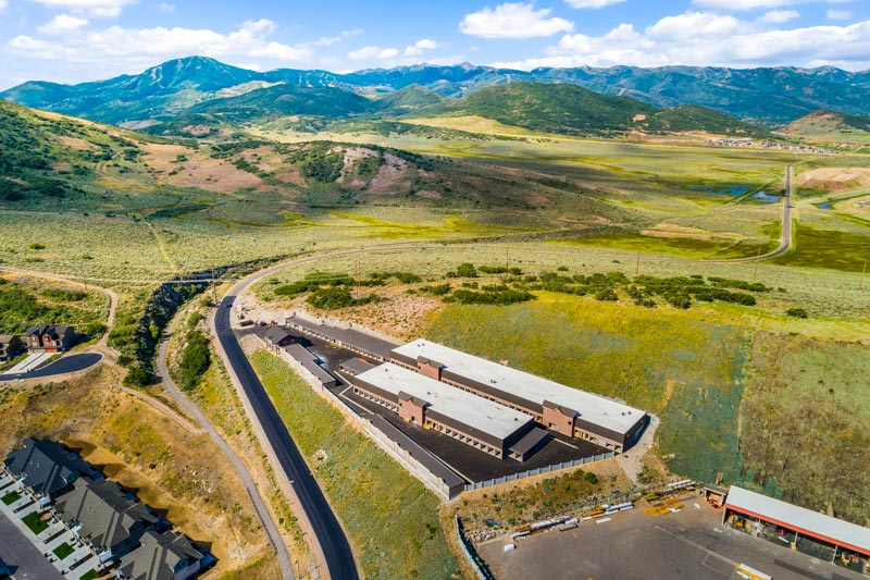 Arial View of Protection Self Storage, UT