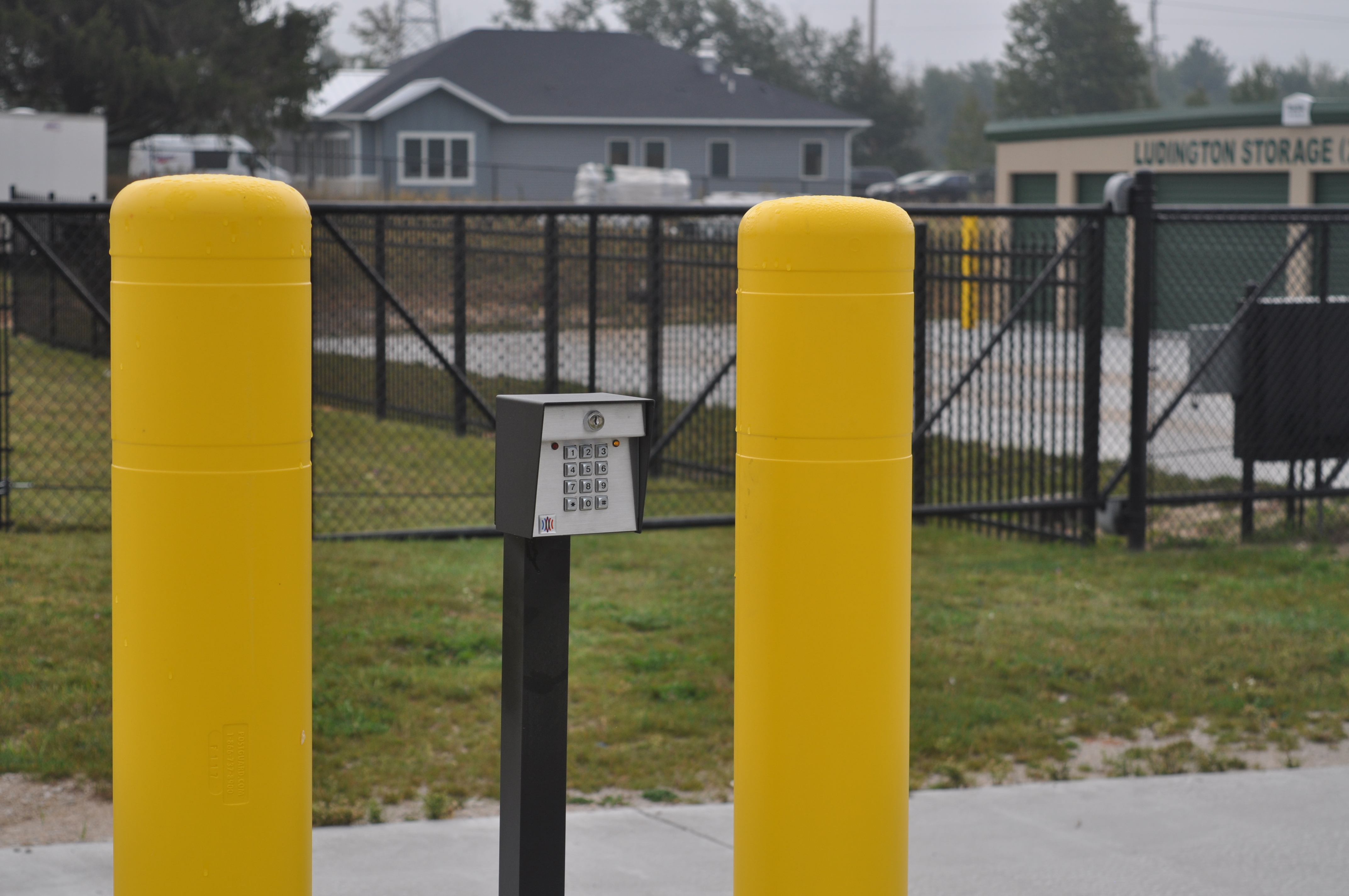 Gated and secure storage facility in Ludington, MI