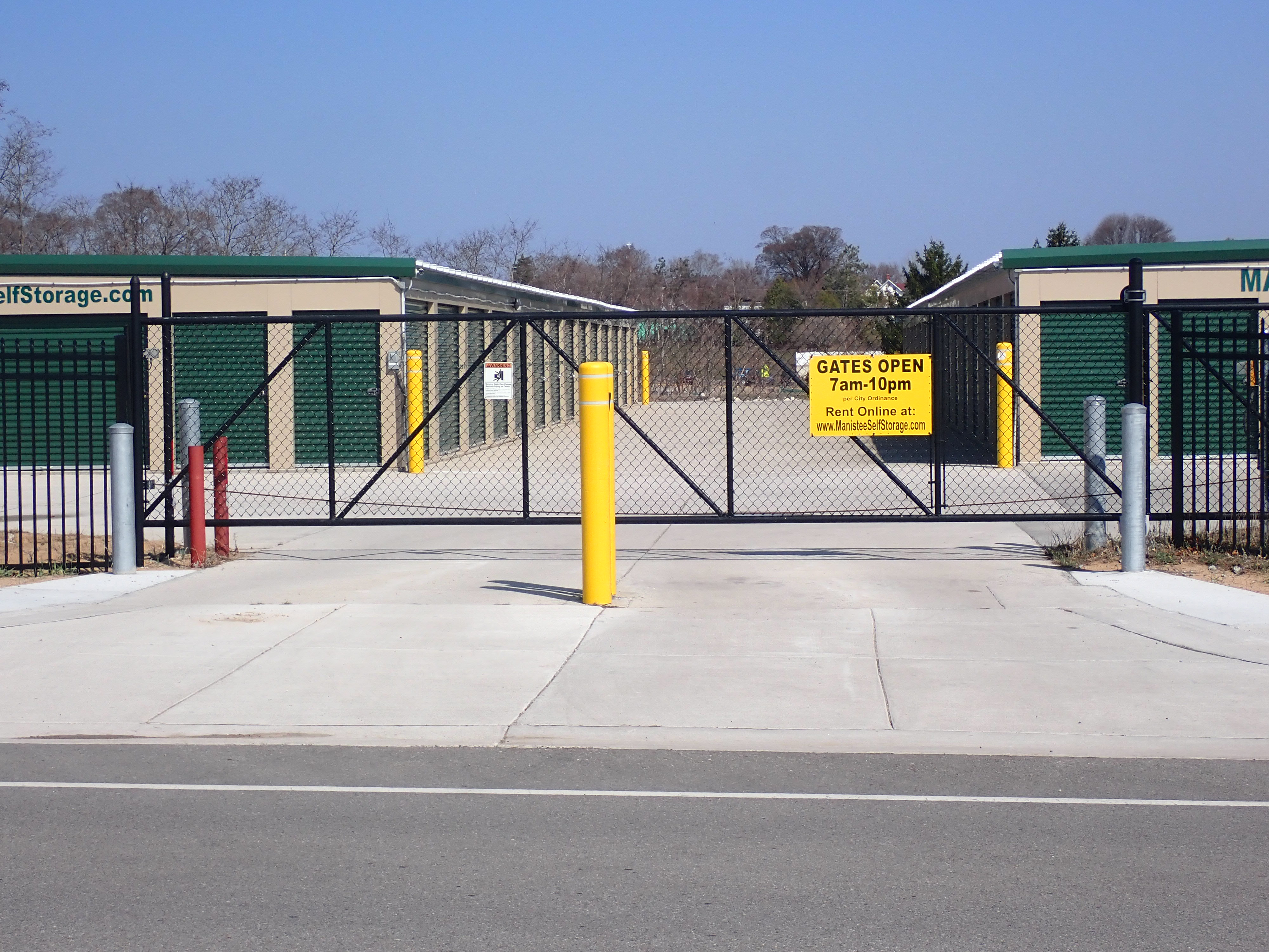 Fenced and gated storage facility in Manistee, MI