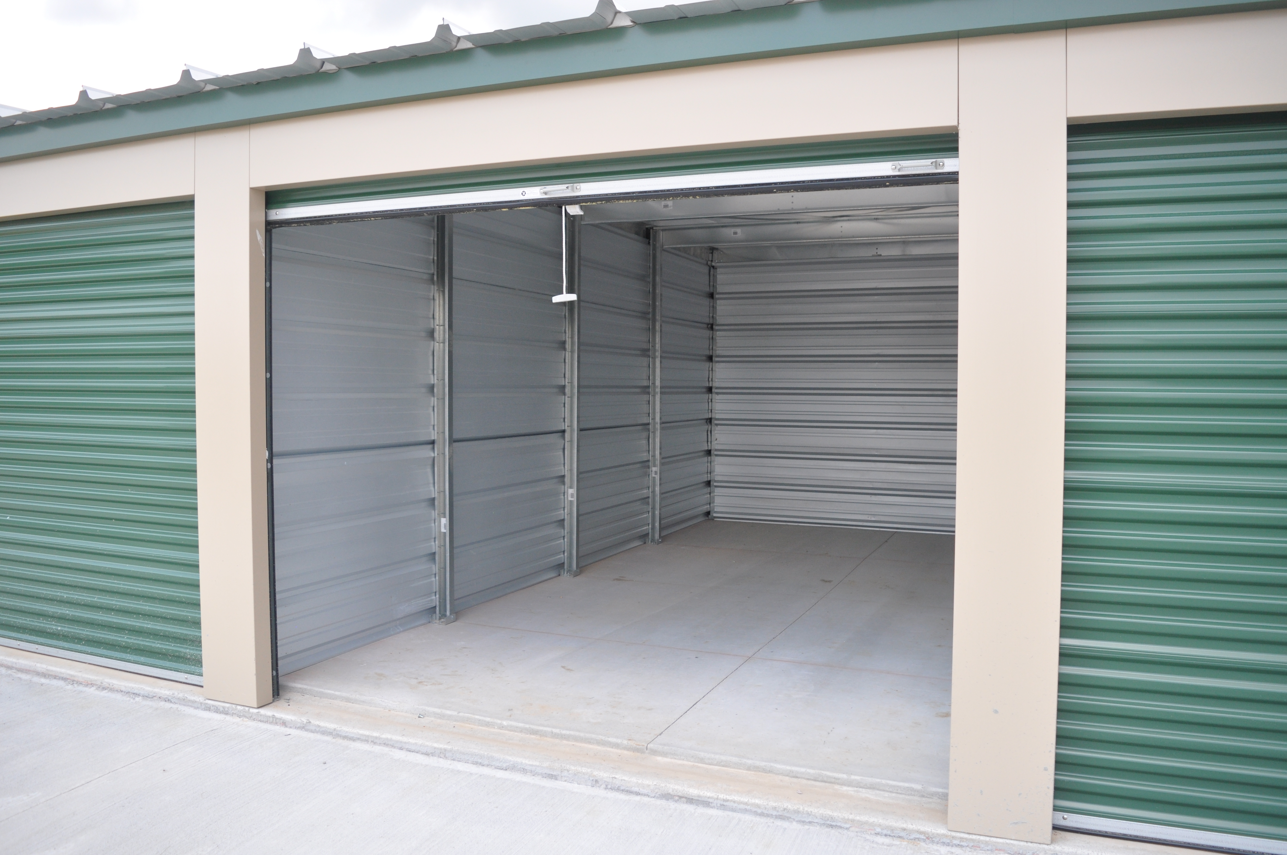 clean new storage units ready to move into