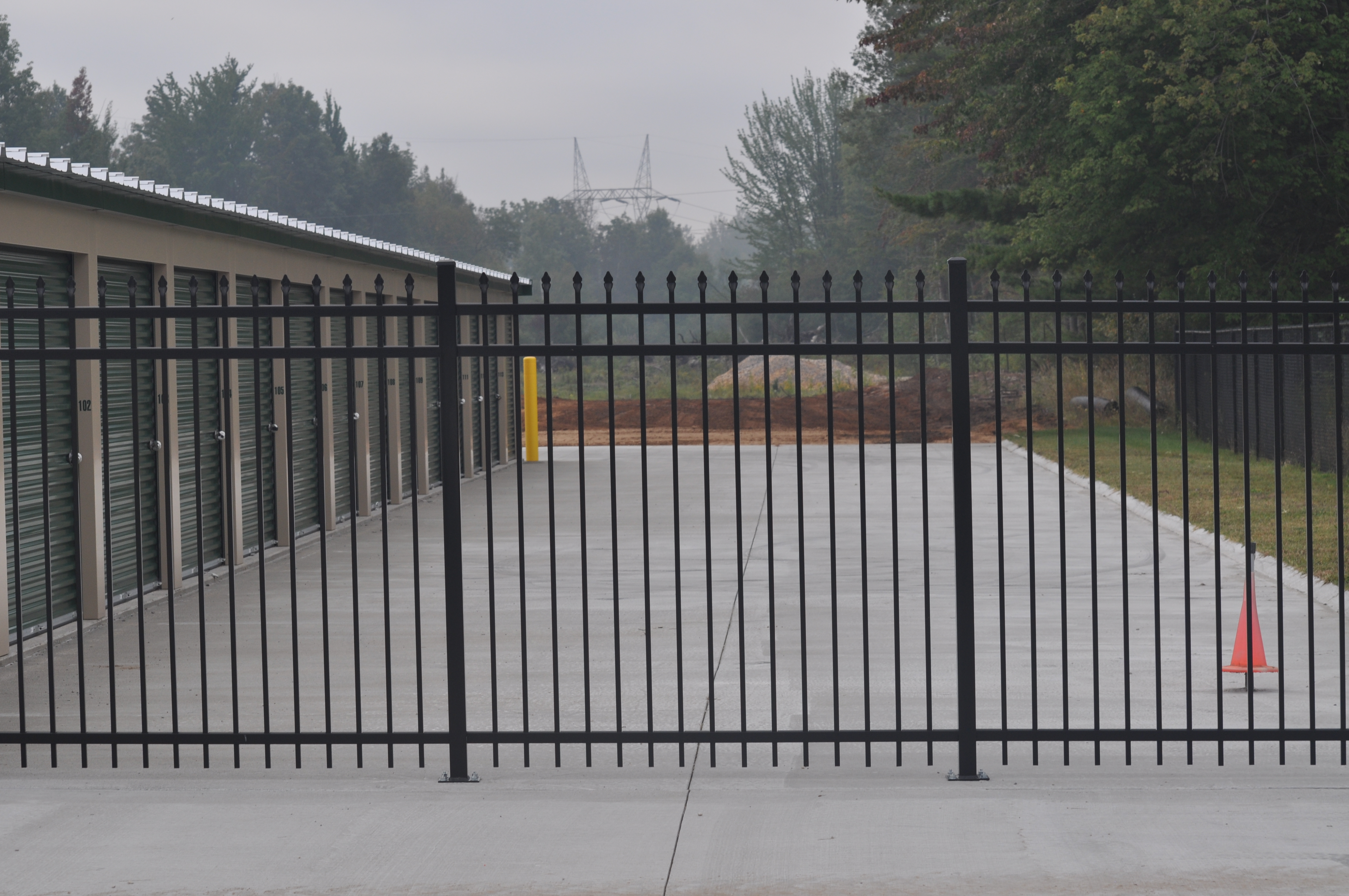 Fully fenced and gated storage facility in Ludington, MI