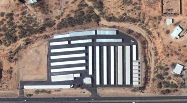 Aerial view of Cashway Mini Warehouses