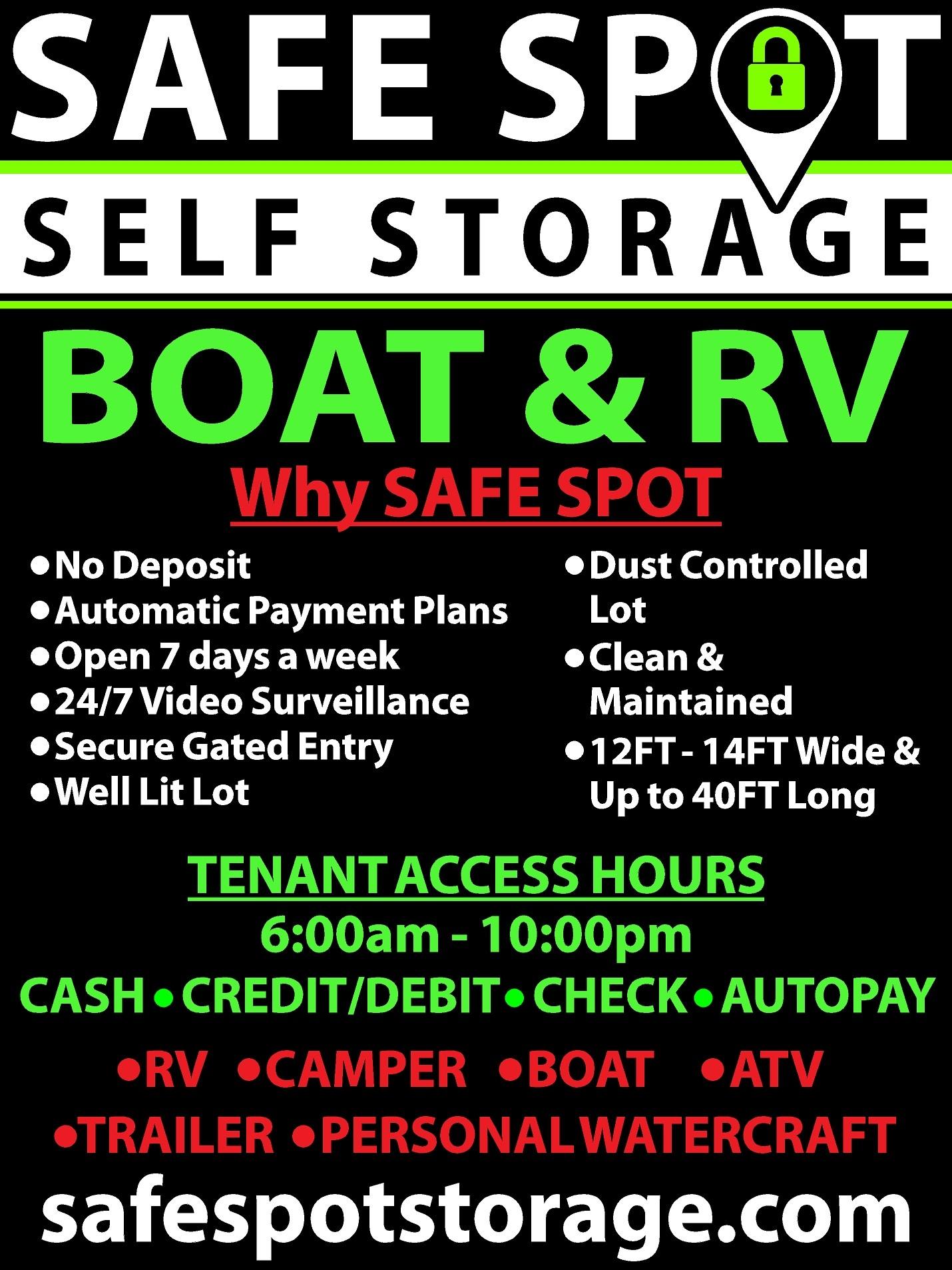 Boat & RV Storage!