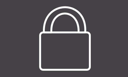 Digital illustration of a padlock