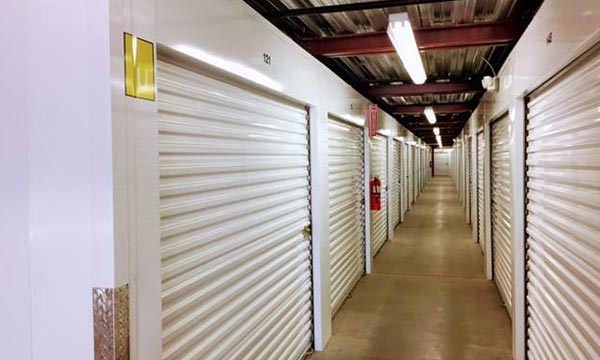 inside storage facility