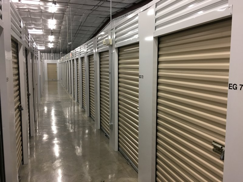 Inside climate controlled storage units in Lafayette, LA