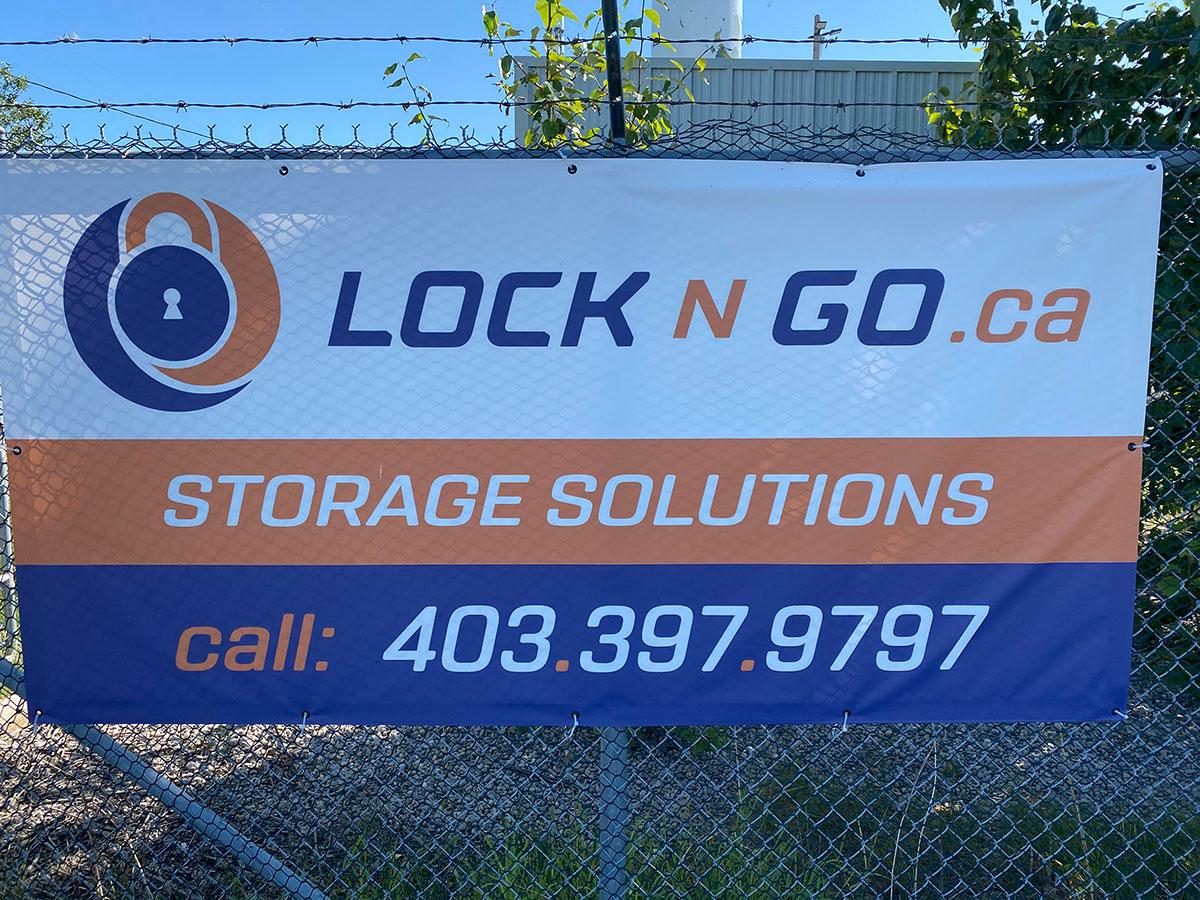 Lock N Go Banner in Calgary, AB