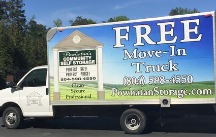 Free Move-In Truck in Powhatan, VA