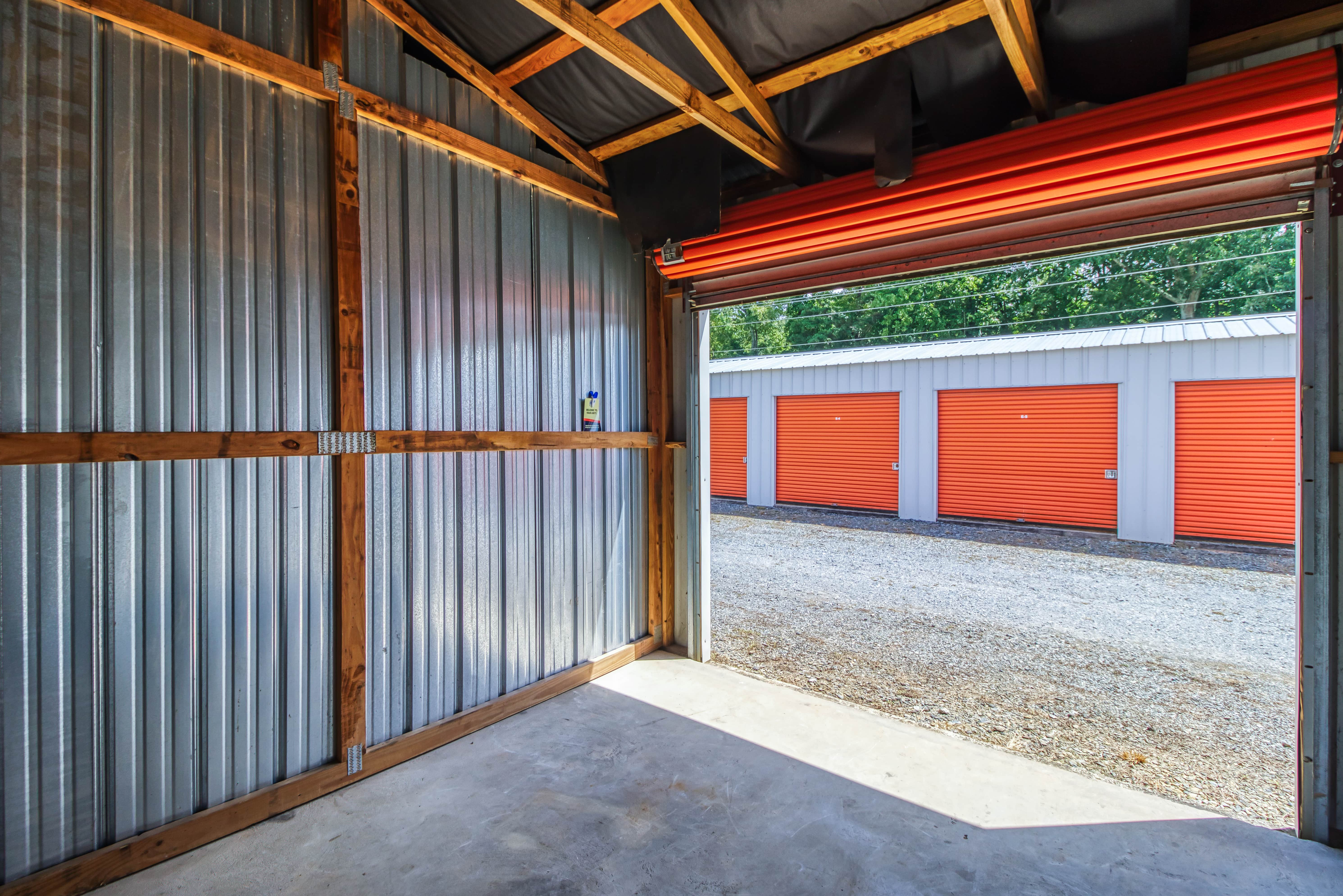 Inside Storage Unit in Ellijay GA