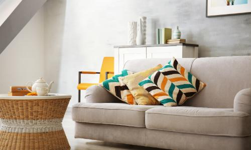 Couch in home