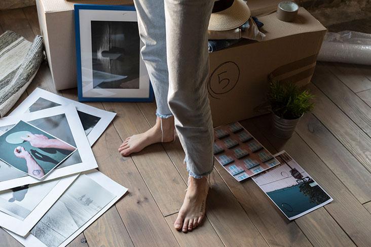 Uso del almacenamiento para organización del hogar