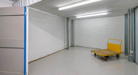 StorageMart on Chapel Road in Portslade indoor storage room