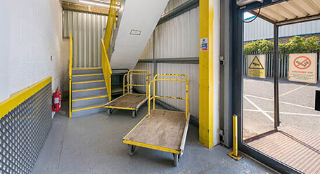 StorageMart on Durban Road in Bognor Regis stairway acess