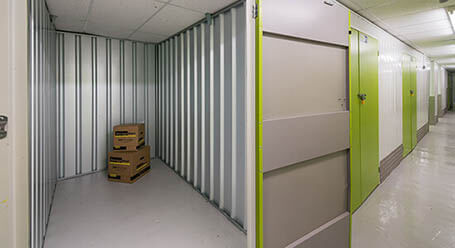 StorageMart on New Road in Newhaven indoor storage room