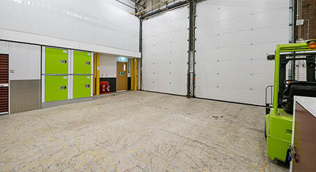 StorageMart on Rapier Street in Ipswich loading bay