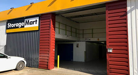 StorageMart on Vulcan Road in Norwich loading bay