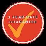 1 Year Rate Guarantee