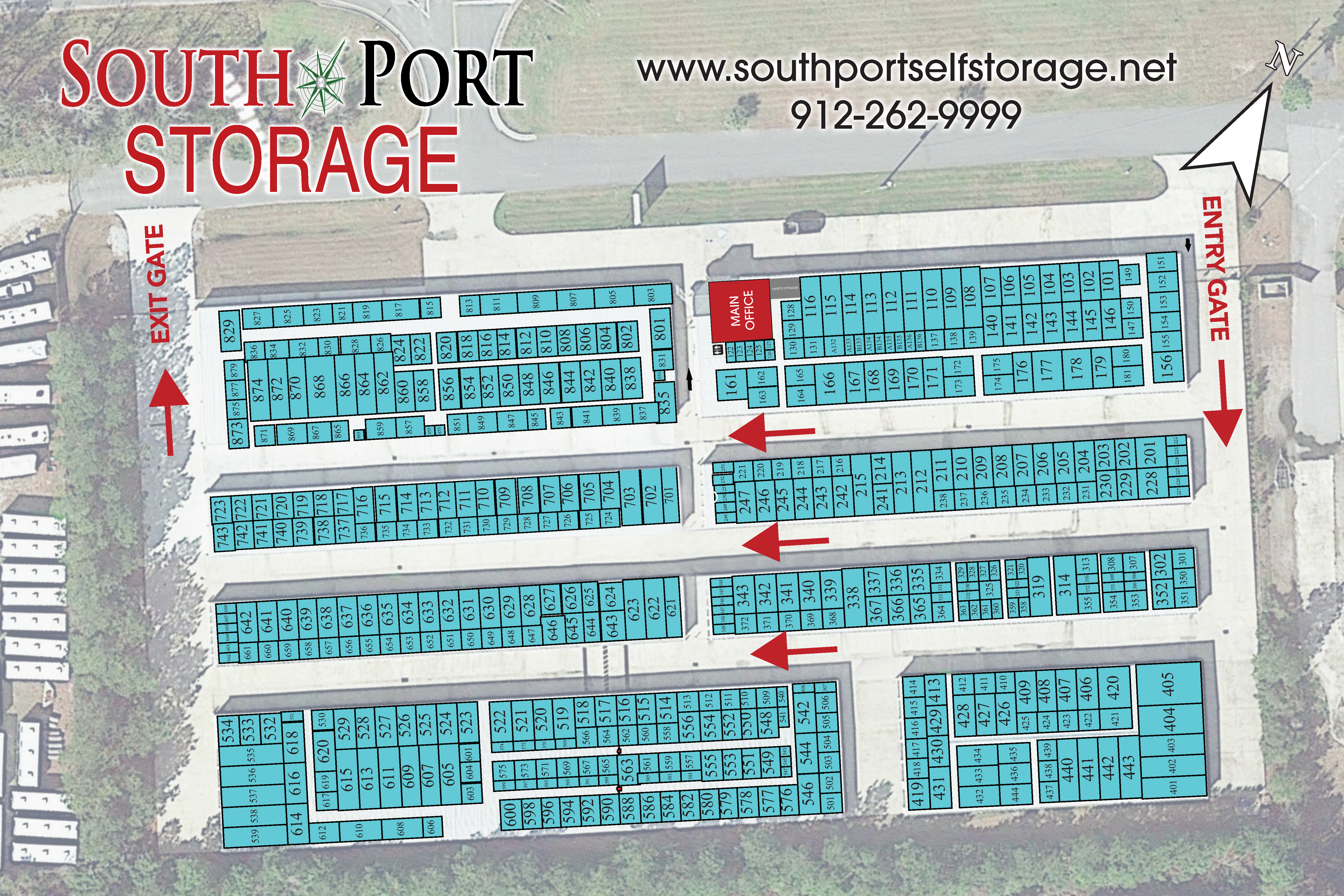 South Port Storage Map