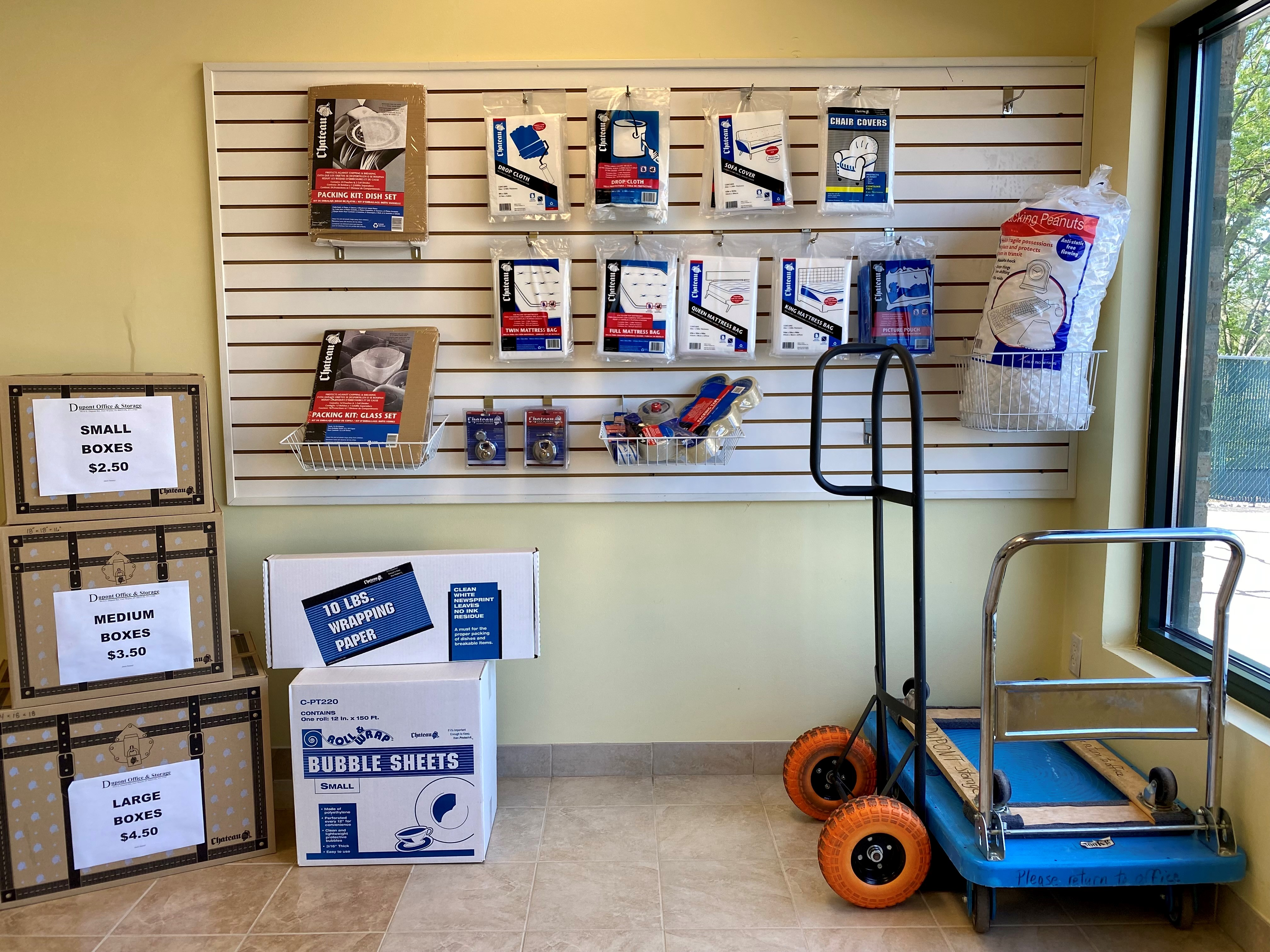 office and moving supplies for sale