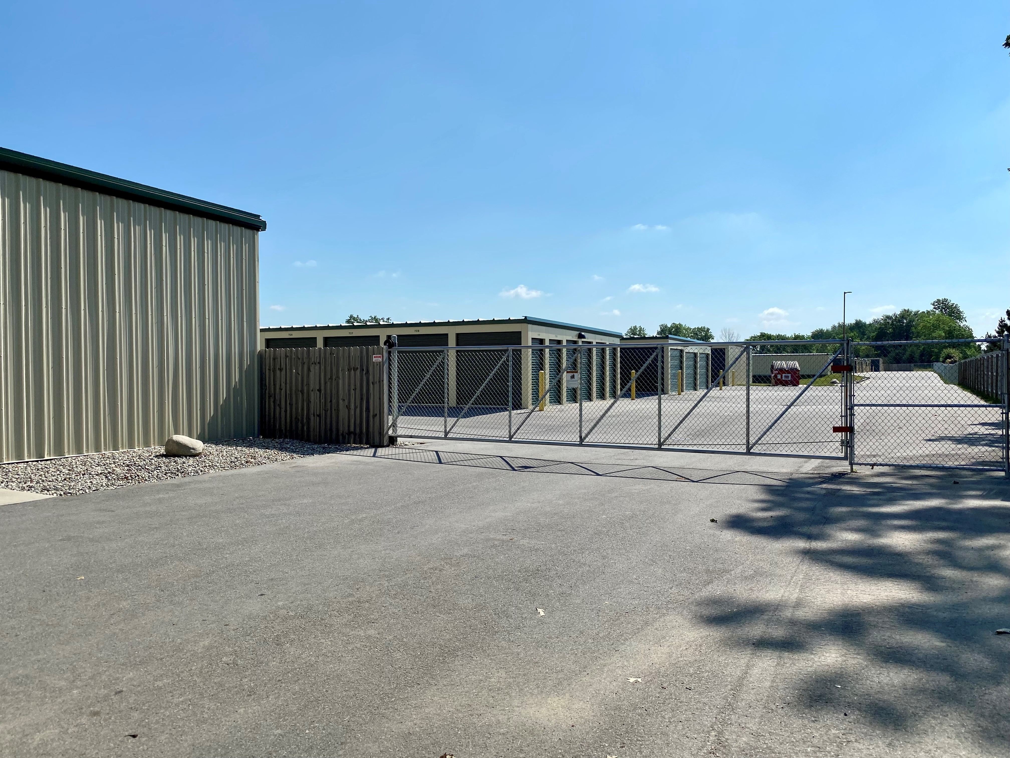 fenced and gated facility in