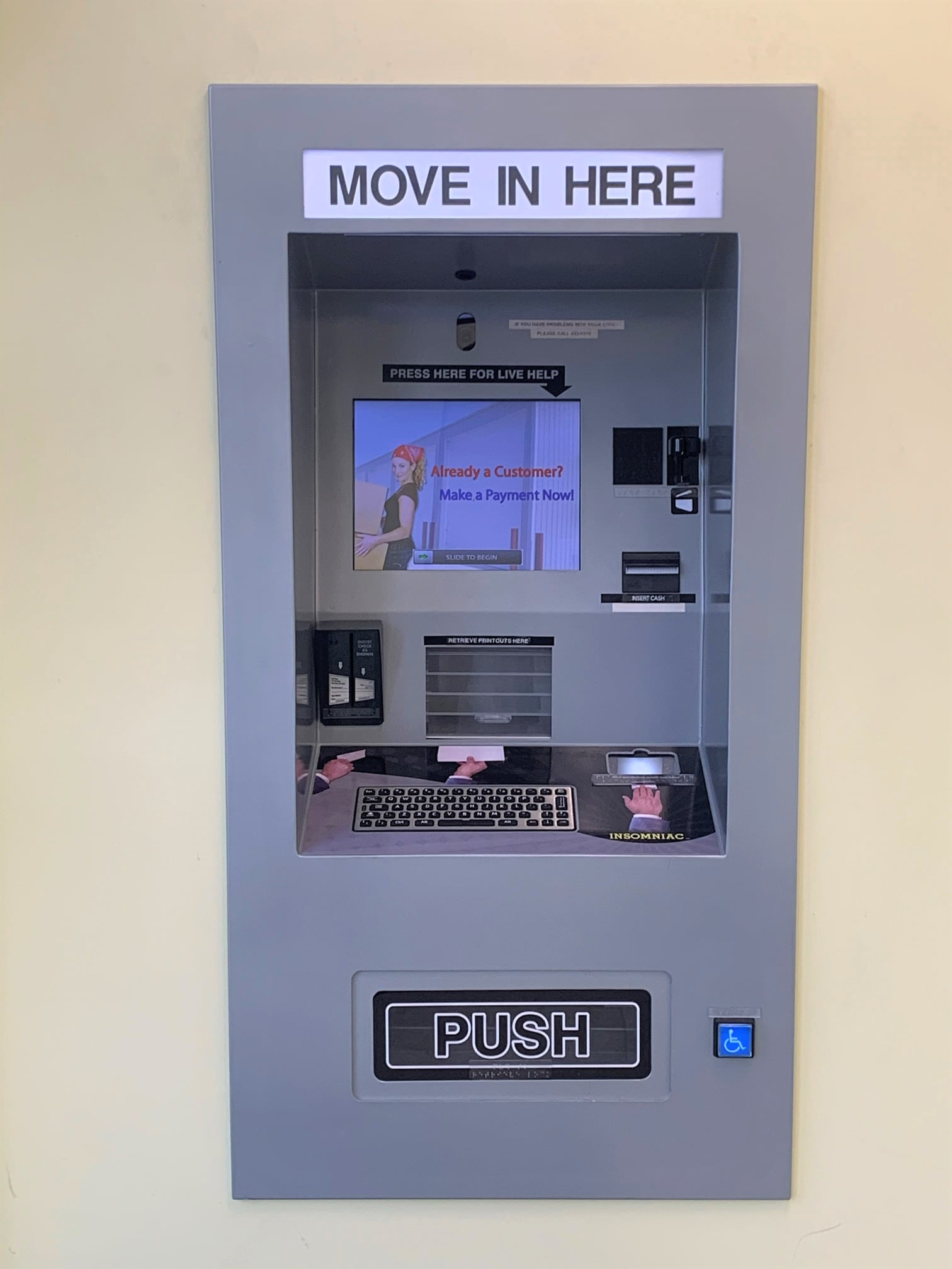 easy kiosk to move into your unit
