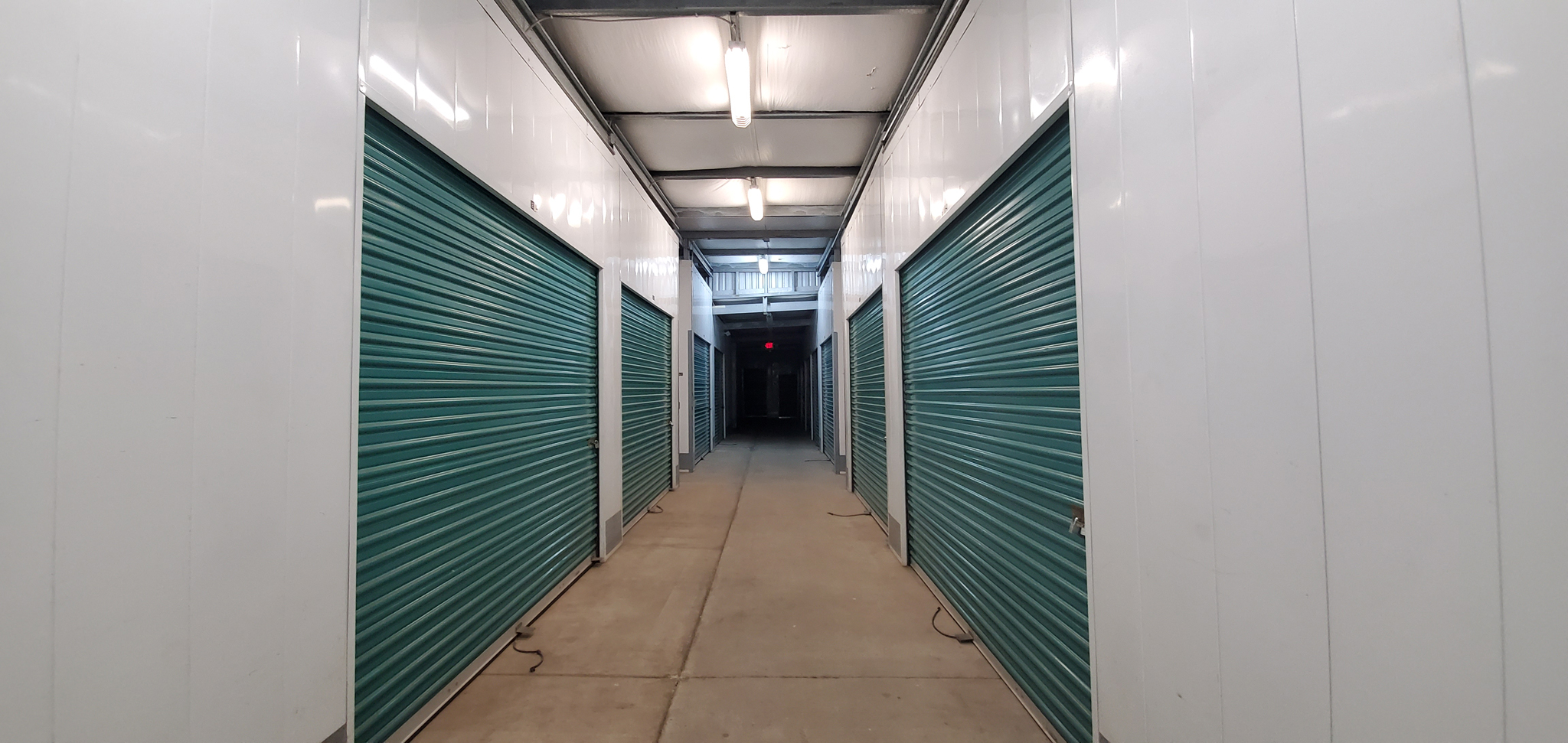 interior storage units hallway