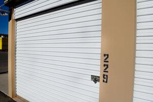 Storage Unit with Hasp Lock