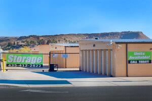 Storage Facility Gated Entrance