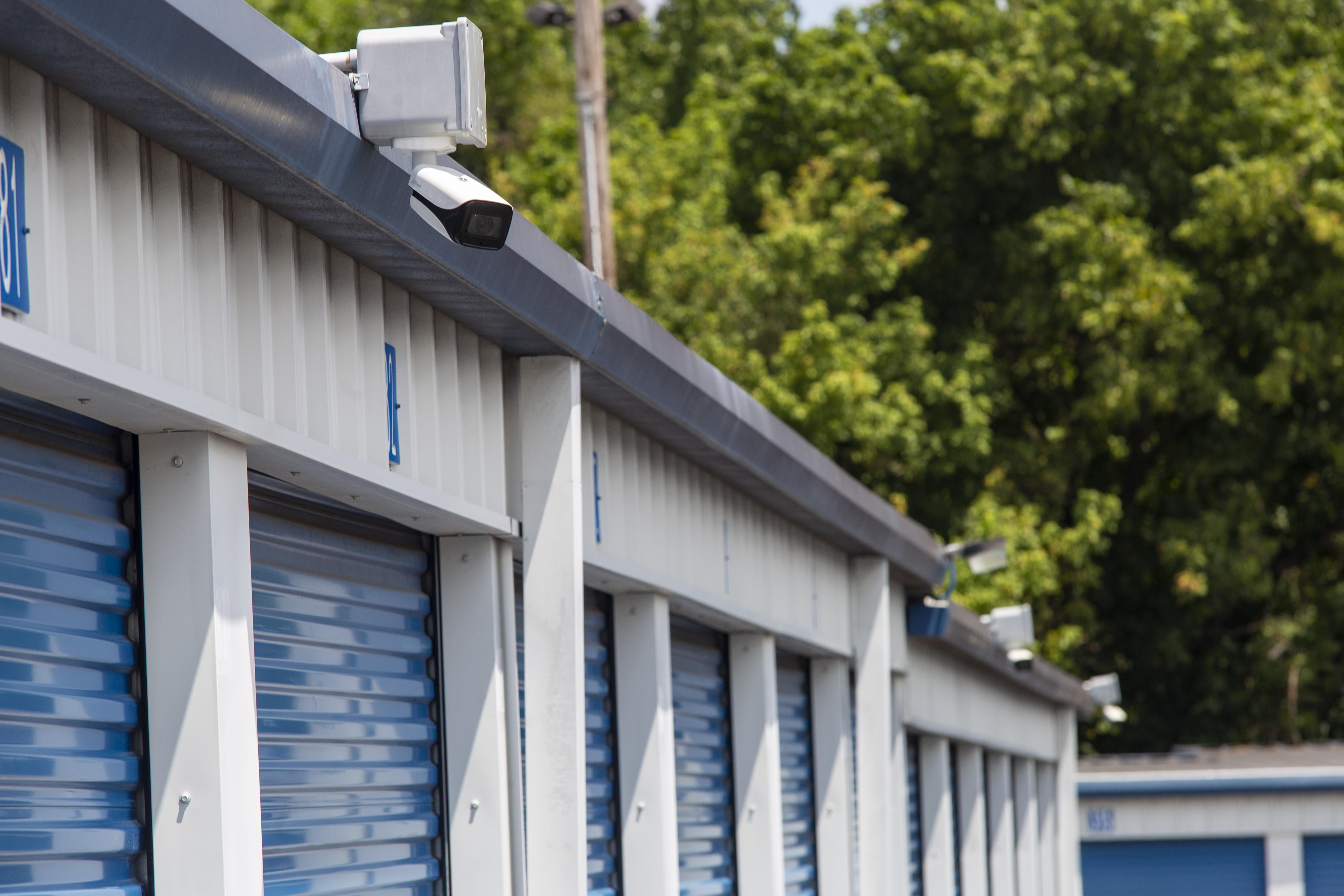 Security cameras provide secure storage