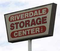 Riverdale Storage Center sign