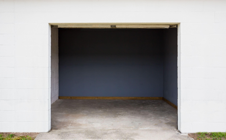 Inside a self storage unit