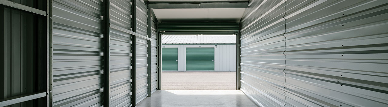 Inside a Clean Self Storage Unit